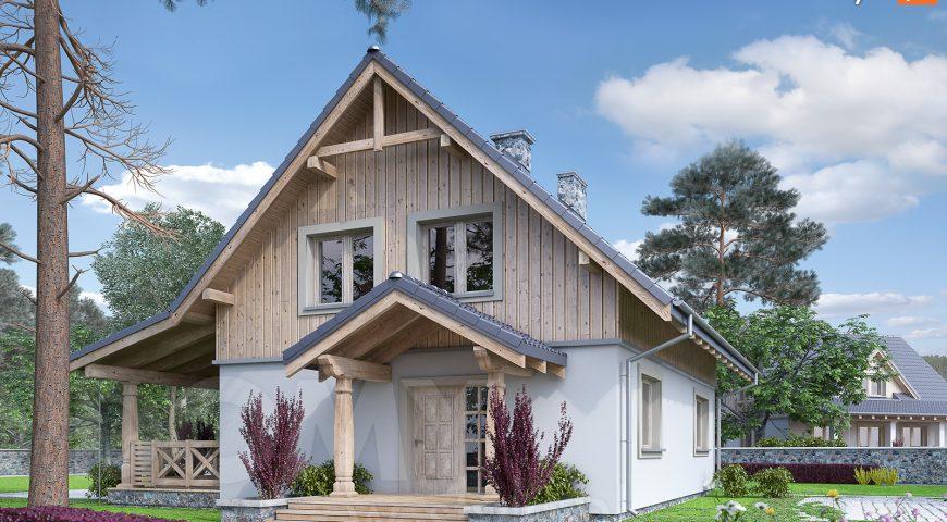 dom w stylu alpejskim